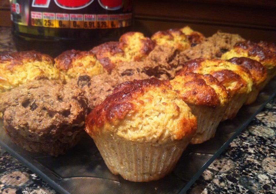 Muffins de avena y semillas de chía