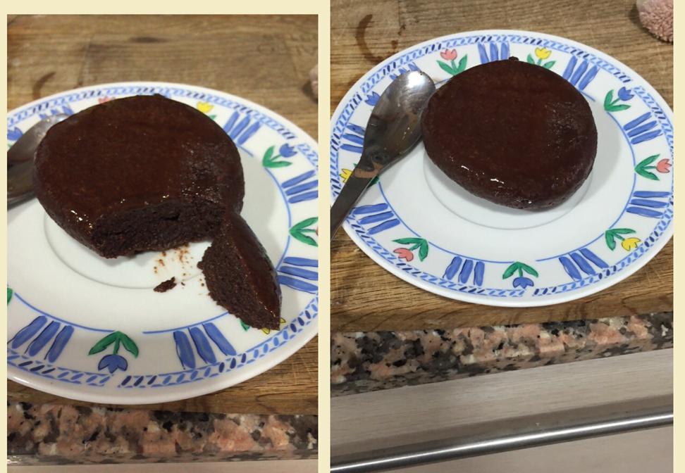 Mug cake de chocolate y proteina