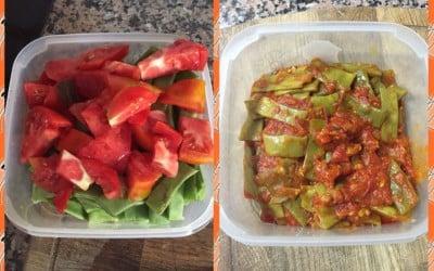Judias verdes con tomate natural
