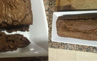 Bizcocho de avena sabor brownie