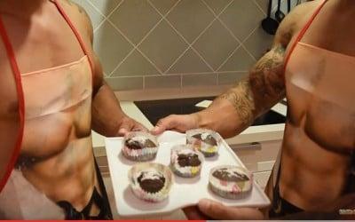 Magdalenas de chocolate con nueces fitness