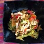 Calamares con verduras