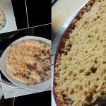 Torta de avena textura bizcochera