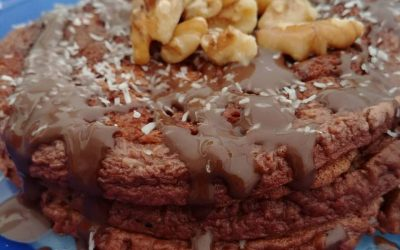 Pancakes de chocolate lowcarb