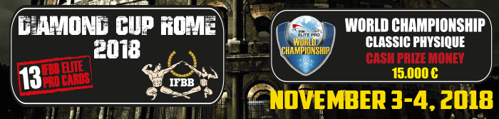 IFBB Diamond Cup Rome 2018