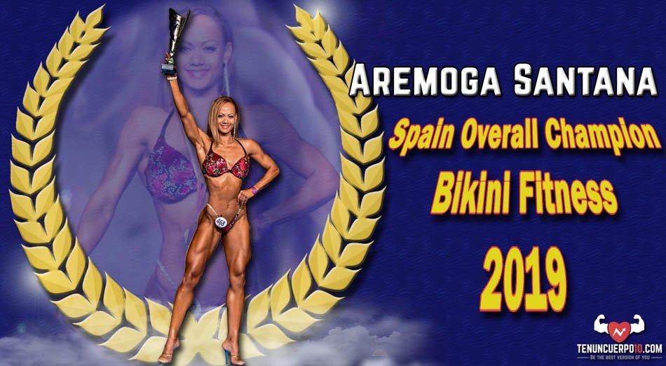 Aremoga Santana: Spain bikini fitness Overall Champion 2019