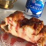 Tarta de yogur griego fit